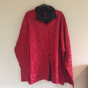 Lightweight red/black jacket.